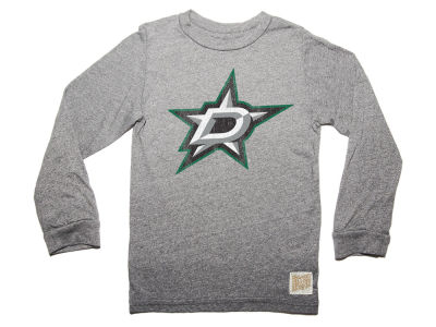 Dallas Stars Retro Brand NHL Men's Primary Mock Twist Long Sleeve T-Shirt