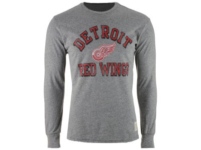 Detroit Red Wings Retro Brand NHL Men's Primary Mock Twist Long Sleeve T-Shirt