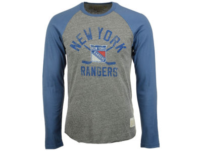 New York Rangers Retro Brand NHL Men's Sticks Raglan Long Sleeve T-Shirt