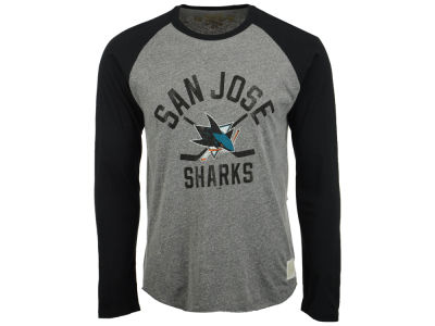 San Jose Sharks Retro Brand NHL Men's Sticks Raglan Long Sleeve T-Shirt