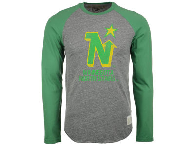 Minnesota North Stars Retro Brand NHL Men's Sticks Raglan Long Sleeve T-Shirt