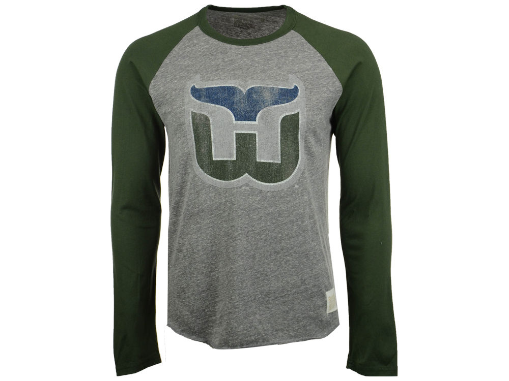Hartford Whalers Retro Brand NHL Men s Sticks Raglan Long Sleeve T-Shirt  6319f9062