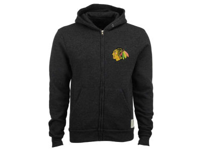 Chicago Blackhawks Retro Brand NHL Men's Primary Tri-Blend Full-Zip Hoodie
