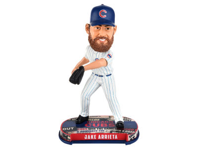 Chicago Cubs Jake Arrieta Forever Collectibles Headline Bobblehead