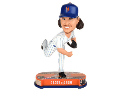 New York Mets Jacob deGrom Forever Collectibles Headline Bobblehead