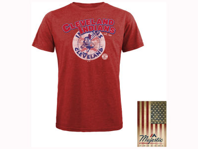 Cleveland Indians MLB Men's Triblend Cooperstown Logo T-Shirt
