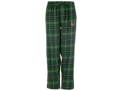 Miami Hurricanes Concept Sports NCAA Men's Ultimate Flannel Sleep Pants