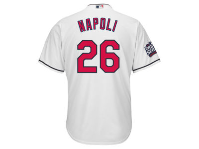 Cleveland Indians Mike Napoli MLB Men's 2016 World Series Patch Player Cool Base Jersey