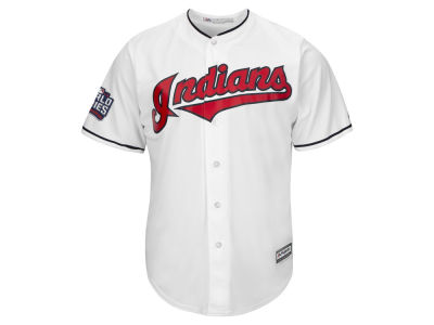 Cleveland Indians MLB Men's 2016 World Series Patch Replica Cool Base Jersey
