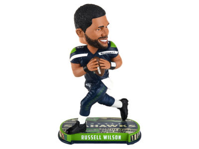 Seattle Seahawks Russell Wilson Forever Collectibles Headline Bobblehead