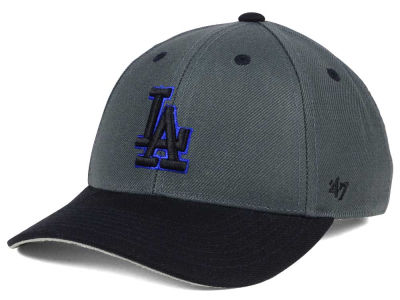 Los Angeles Dodgers '47 MLB Kids 2-Tone Charcoal/Black '47 MVP Cap