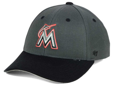 Miami Marlins '47 MLB Kids 2-Tone Charcoal/Black '47 MVP Cap