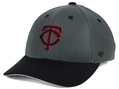 Minnesota Twins '47 MLB Kids 2-Tone Charcoal/Black '47 MVP Cap
