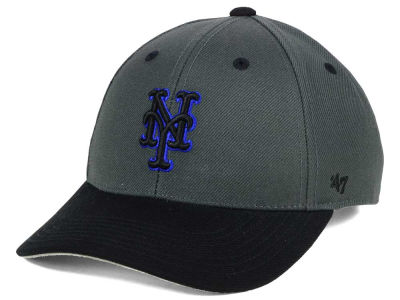 New York Mets '47 MLB Kids 2-Tone Charcoal/Black '47 MVP Cap