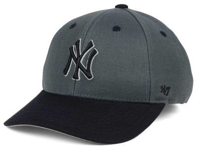 New York Yankees '47 MLB Kids 2-Tone Charcoal/Black '47 MVP Cap