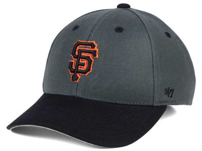 San Francisco Giants '47 MLB Kids 2-Tone Charcoal/Black '47 MVP Cap