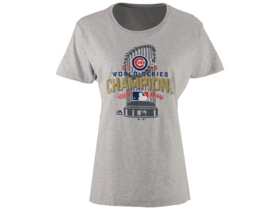 Chicago Cubs Majestic MLB Women's World Series Locker Room Champ T-Shirt
