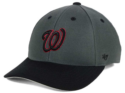 Washington Nationals '47 MLB Kids 2-Tone Charcoal/Black '47 MVP Cap
