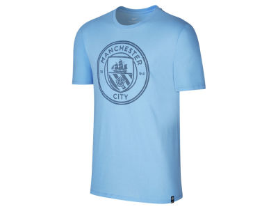 Manchester City Nike Club Men's Team Crest T-Shirt