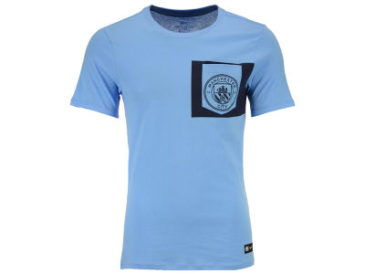 Manchester City Nike Men's Club Team Crest Logo T-Shirt