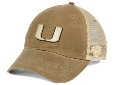 Miami Hurricanes Top of the World NCAA Mudd 2 Tone Mesh Cap