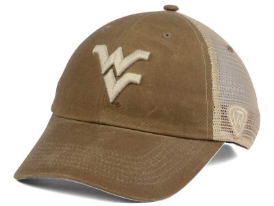 West Virginia Mountaineers Top of the World NCAA Mudd 2 Tone Mesh Cap