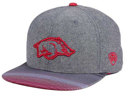 Arkansas Razorbacks Top of the World NCAA Tarnesh Snapback Cap