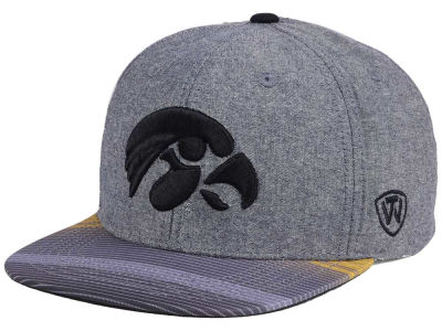 Iowa Hawkeyes Top of the World NCAA Tarnesh Snapback Cap