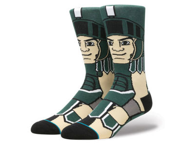 Michigan State Spartans Stance NCAA Mascot Sock