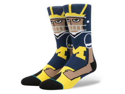 Michigan Wolverines Stance NCAA Mascot Sock