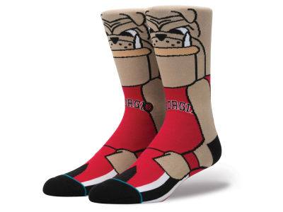 Georgia Bulldogs Stance NCAA Mascot Sock
