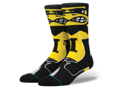 Iowa Hawkeyes Stance NCAA Mascot Sock