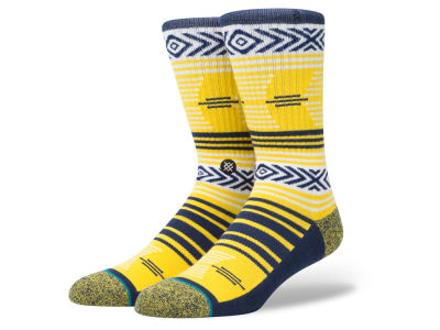 Michigan Wolverines Stance NCAA Mazed Sock