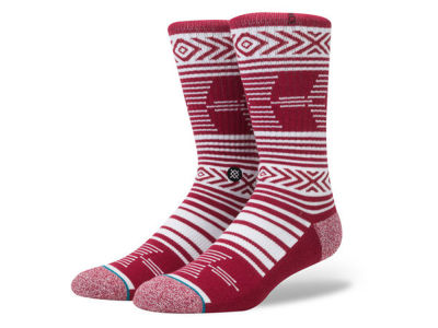 Oklahoma Sooners Stance NCAA Mazed Sock