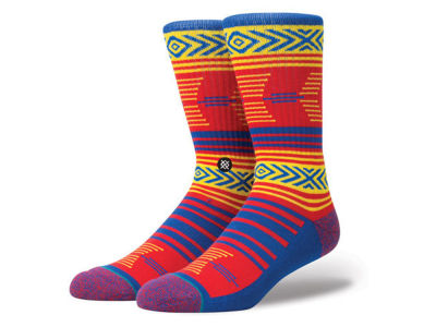Kansas Jayhawks Stance NCAA Mazed Sock