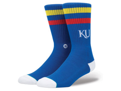 Kansas Jayhawks Stance NCAA Team Logo Sock