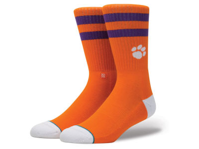 Clemson Tigers Stance NCAA Team Logo Sock