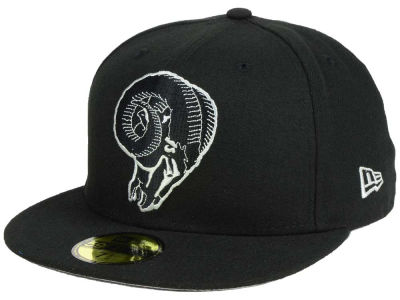 Los Angeles Rams New Era NFL Basic Pop Black 59FIFTY Cap