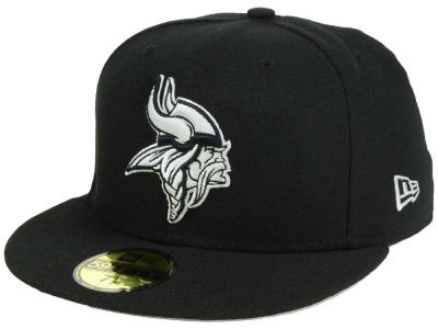 Minnesota Vikings New Era NFL Basic Pop Black 59FIFTY Cap