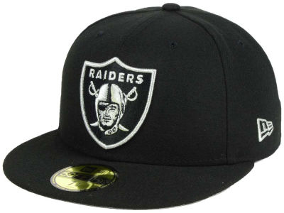 Oakland Raiders New Era NFL Basic Pop Black 59FIFTY Cap