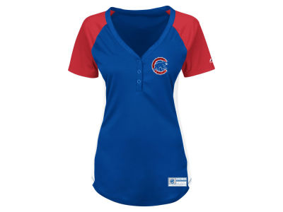 Chicago Cubs Majestic MLB Women's League Diva Plus Size T-Shirt