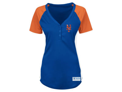 New York Mets Majestic MLB Women's League Diva Plus Size T-Shirt