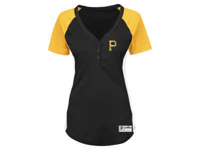 Pittsburgh Pirates Majestic MLB Women's League Diva Plus Size T-Shirt
