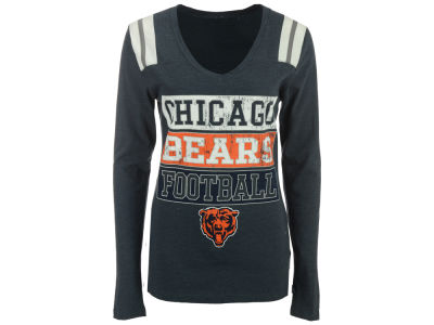 Chicago Bears NFL Women's Triple Blocked Long Sleeve T-Shirt