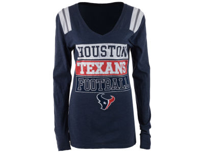Houston Texans NFL Women's Triple Blocked Long Sleeve T-Shirt