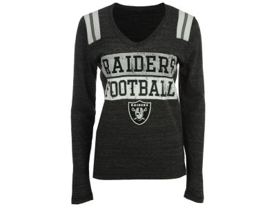 Oakland Raiders NFL Women's Triple Blocked Long Sleeve T-Shirt