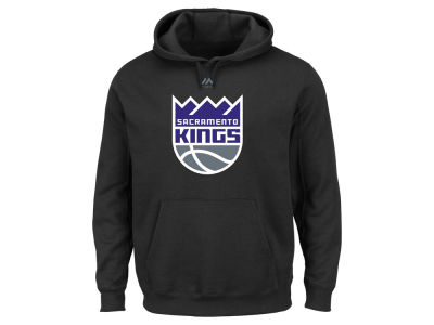 Sacramento Kings Majestic NBA Men's Logo Tee II Hooded Sweatshirt
