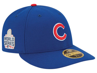 Chicago Cubs Low Profile New Era MLB 2016 World Series Patch Authentic Collection 59FIFTY Cap
