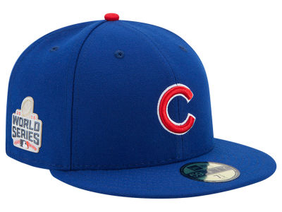 Chicago Cubs New Era MLB Youth 2016 World Series Patch Authentic Collection 59FIFTY Cap