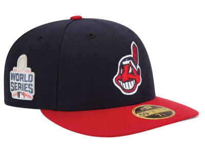 Cleveland Indians Low Profile New Era MLB 2016 World Series Patch Authentic Collection 59FIFTY Cap